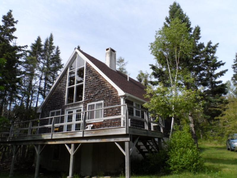 Front of cottage, nestled in the trees. - Offshore - Brooklin - rentals