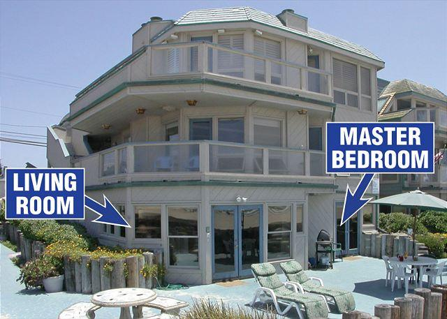 2917 Oceanfront Walk Exterior - Beautiful  Ocean Front Condo with a huge ground level patio,and ocean view - San Diego - rentals