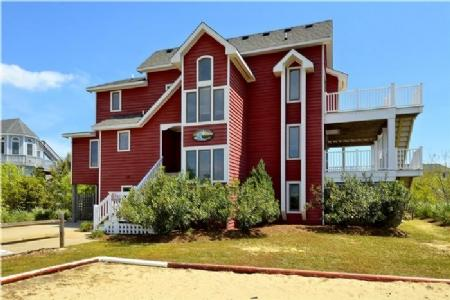Front elevation - Family Tides - Corolla - rentals