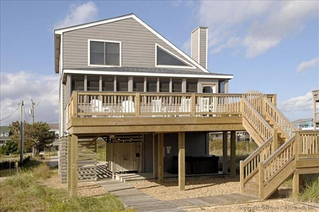 Exterior from oceanside - Sea Senor - Nags Head - rentals