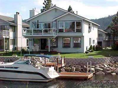 Exterior from Water - 457 Lido Drive - South Lake Tahoe - rentals