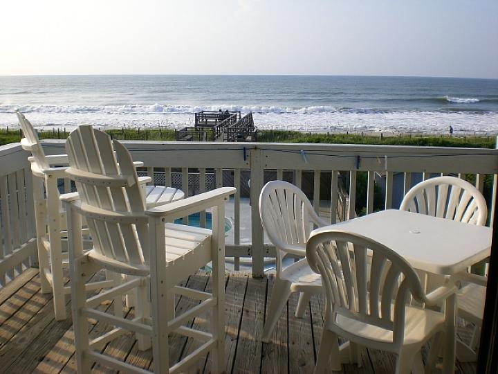 view from deck - Oceanside West I - E3 - Magnetta - Ocean Isle Beach - rentals