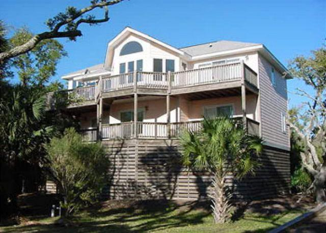 Exterior - Ocean Views and a Private Dock on Scott Creek, Edisto Island - Edisto Beach - rentals