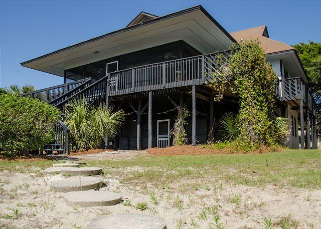 Stone Ground - Eclectic Beach Front Home On St. Helena Sound - Image 1 - Edisto Beach - rentals