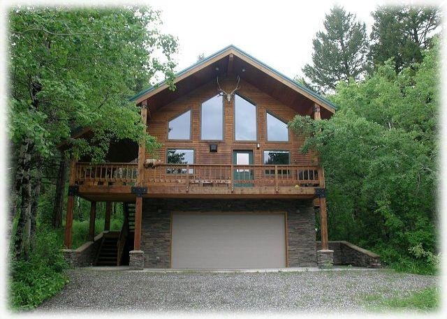 Tucked into the trees with beautiful views of its namesake, Castle Rock peak. - Castle Rock Cabin - Big Sky - rentals