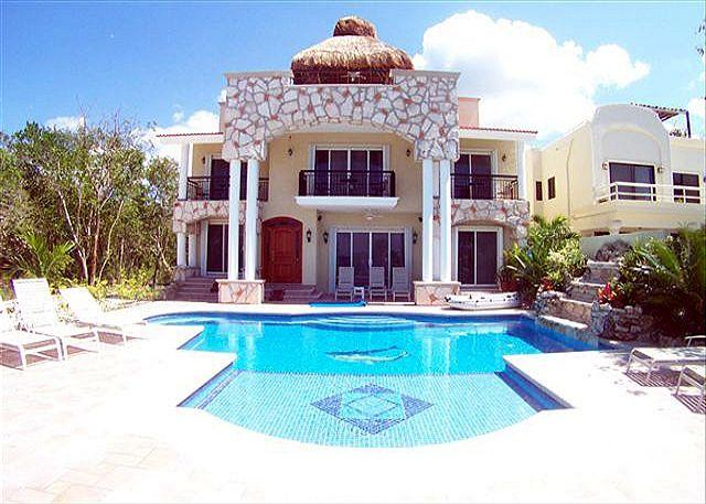 Stately Villa Las Uvas and Pool - Oceanview Villa with Private Pool. Cook Svce Option. Brilliant Views! - Cozumel - rentals