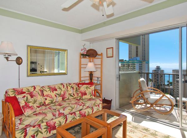 Waikiki Park Heights #1710 - One-bedroom with ocean view and central AC; 5 min. walk to beach. Sleeps 4. - Image 1 - Waikiki - rentals
