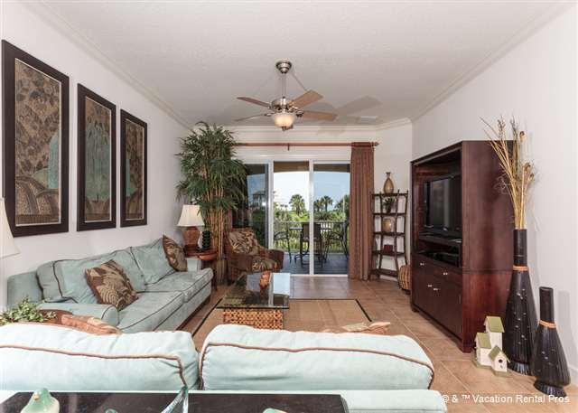 Cinnamon Beach 122 comfortably sleeps eight people! - 122 Cinnamon Beach Condo for Rent, Palm Coast FL, 2 Pools, Wifi - Palm Coast - rentals