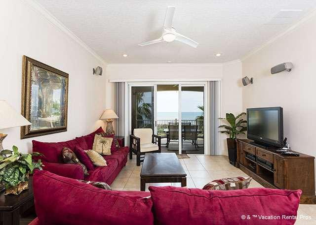 Enjoy the ocean views throughout our condo - 732 Cinnamon Beach, 3rd Floor Oceanfront, HDTV, Wifi, 2 King Bed - Palm Coast - rentals