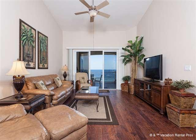 Take pleasure in our elegantly furnished living room - 762 Cinnamon Beach Ocean Front Pent House 6th Floor, HDTV, Wifi - Palm Coast - rentals