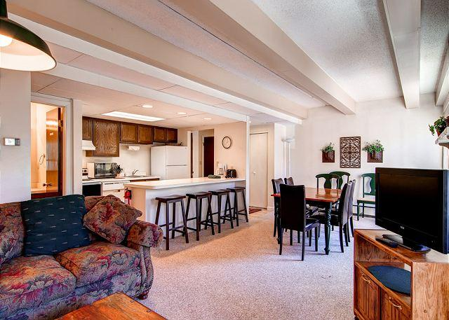 The Lift Living Room Breckenridge Lodging and Vacation Rentals - Lift Condo 2BR Walk to Quicksilver Shared Pool/Hot Tub Breckenridge Lodging - Breckenridge - rentals