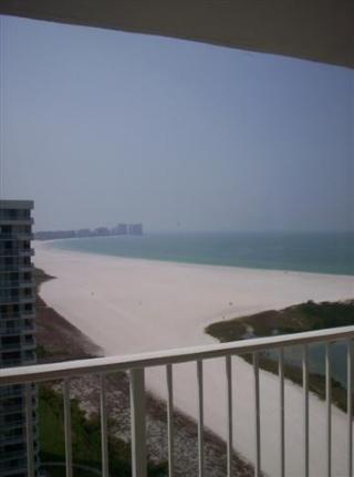 Beach view from balcony - South Seas 4-1809 - Marco Island - rentals