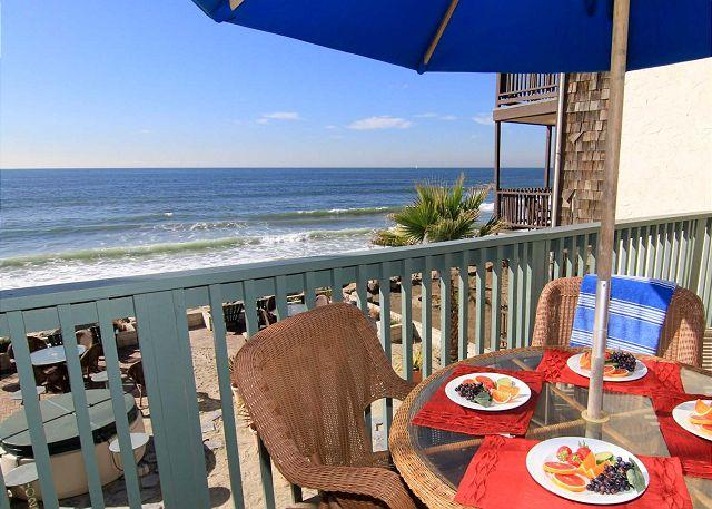 Oceanfront balcony - Beckoning Beach Front Condo on Sand P7201-0 - Oceanside - rentals