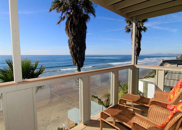 view from your private oceanfront balcony - Extraordinary Oceanfront Rental with Private Spa E6801+2 - Encinitas - rentals