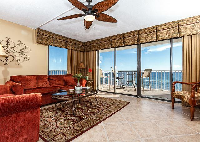 Get an amazing view of the gulf from this corner/end unit on the - GS 501: Fantastic beachview corner unit-WIFI, Free Beach Chairs+movie rentals - Fort Walton Beach - rentals
