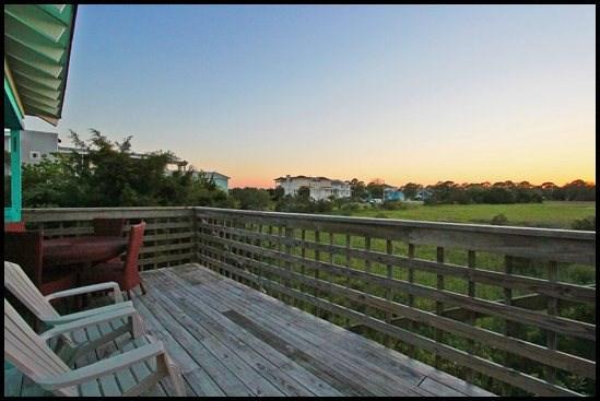 Sunset view from deck of My Setting Sun - My Setting Sun - Tybee Island - rentals