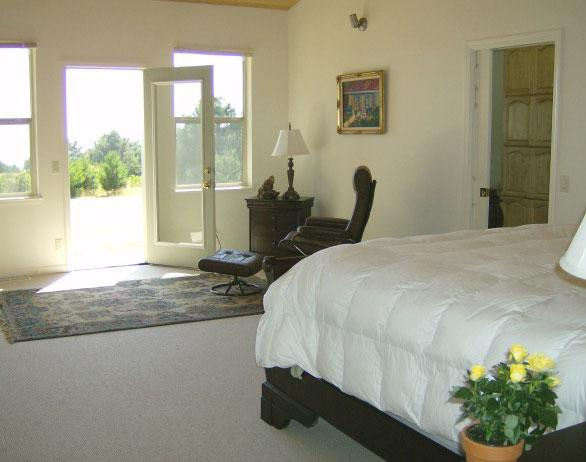 Master bedroom with sun light streaming in (King bed) - Pacific Vista - Gualala - rentals