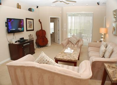 Living Room with Flat Screen and Surround Sound - West Haven Musical Manor - Davenport - rentals