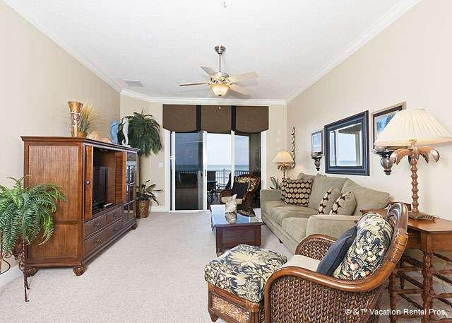 Our spacious condo has lovely views! - 544 Cinnamon Beach Front, 4th Floor, Large Patio, Rocking Chairs - Palm Coast - rentals
