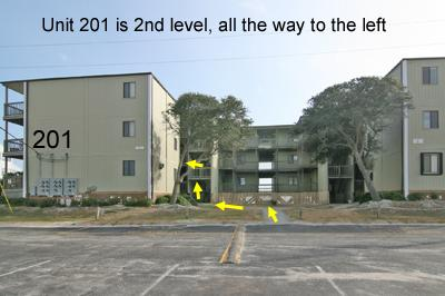 Location of unit 201 in Building 1, Topsail Reef - Topsail Reef 201 - BLD 1 - North Topsail Beach - rentals