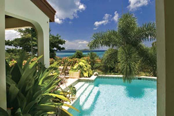 Short walk form Mahoe Beach, this 2- level villa is connected via a covered garden walkway to the guest house. VG BEL - Image 1 - Mahoe Bay - rentals