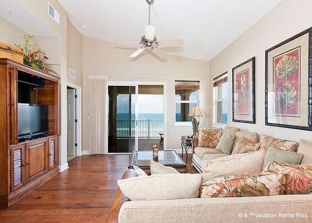Cinnamon Beach 765 comfortably sleeps six people! - 765 Cinnamon Beach 6th Floor OceanFront Penthouse, Wood Floors - Palm Coast - rentals