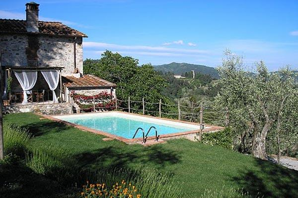 Charming farmhouse high in the hills dividing Lucca from the Versilian coast. SAL FIO - Image 1 - Lucca - rentals