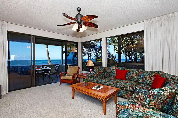 Ocean Front Prime 3 Bedroom Luxury Condo Unit 24 - Image 1 - Kahana - rentals