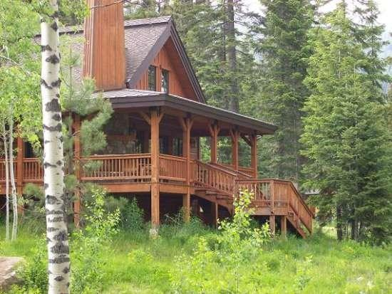 End Chalet with wooded lot and seasonal stream directly behind home - Sawtooth 110 - 3 Bedroom, 3 Bath Chalet. Sleeps 8. WIFI. One of our few homes with A/C. - Tamarack Resort - rentals