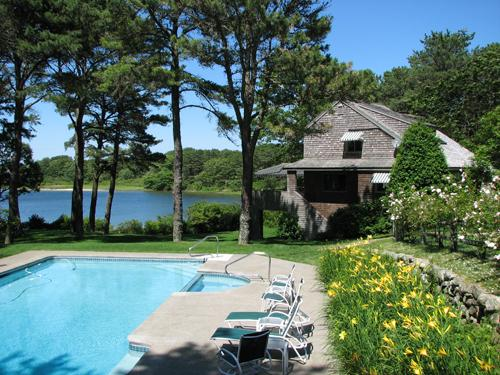676 - Beautiful Waterfront home with a Pool - Image 1 - Edgartown - rentals