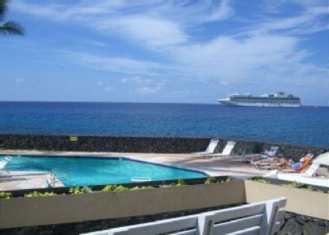 Pool and wonderful ocean view from the lanai. - #SV2-102 - Sea Village 2102 - Kailua-Kona - rentals