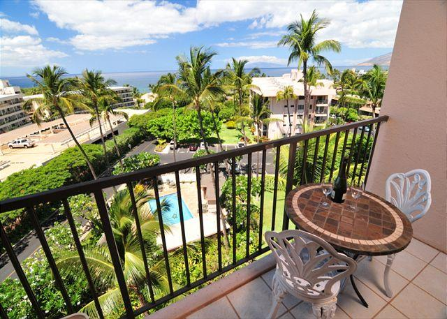 Start and end your day here out on the lanai. - Stunning Sunsets From the Lanai (KAD612) - Kihei - rentals