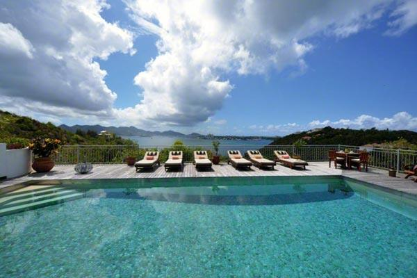 Enjoy sunrise and sunset views from this Caribbean home with a Moroccan flare. C CAN - Image 1 - Terres Basses - rentals