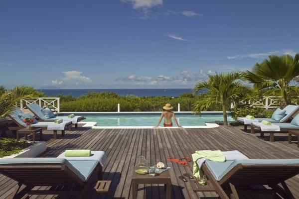 Hillside villa with guest house and a large poolside terrace. C JET - Image 1 - Terres Basses - rentals