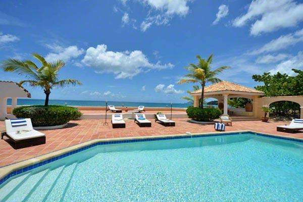 Directly on Baie rouge Beach, surrounded by tropical gardens. All rooms open to tiled terrace and pool. C ROD - Image 1 - Baie Rouge - rentals