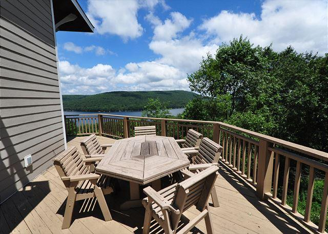 Deck with a view of Deep Creek Lake - Tall Castle - Oakland - rentals