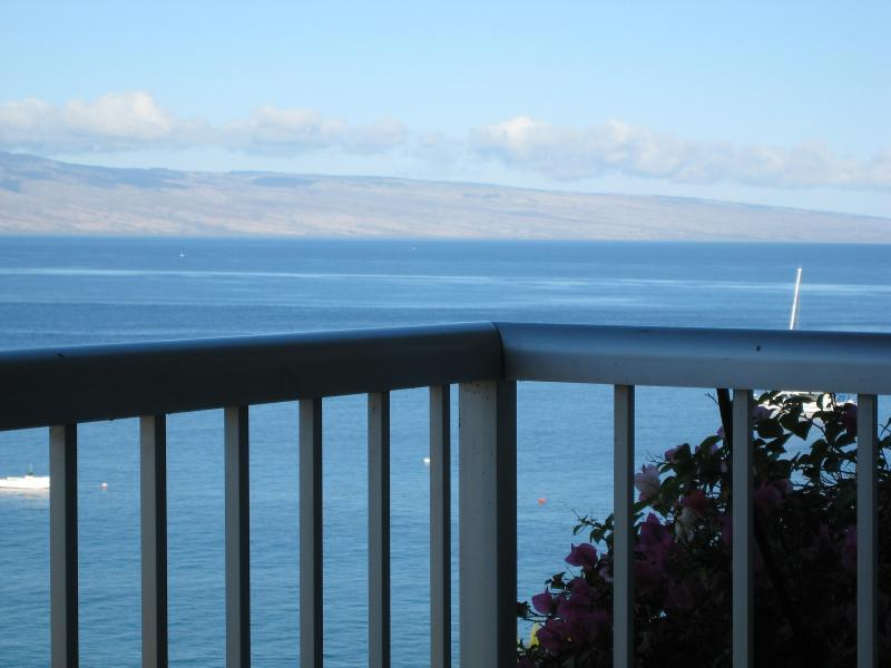 View from the lanai of my Condominium - A Stunning Maui Panorama - 10th Floor Views of Ocean, Beach, Mountains...even Whales! - Kaanapali - rentals