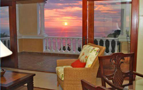 Beautiful sunset view from our terrace - Pacifico Colonial  2 or 3 Bedroom Luxury Condo - Manuel Antonio - rentals