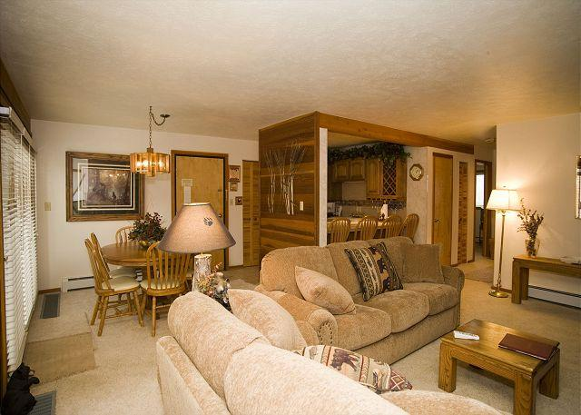 Living room to Dining room - #116 Timber Ridge - Silverthorne - rentals