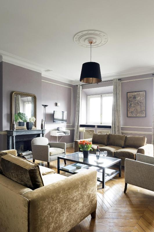 View of the Living Room - Palais Royal Luxury Two Bedroom - 1st Arrondissement Louvre - rentals