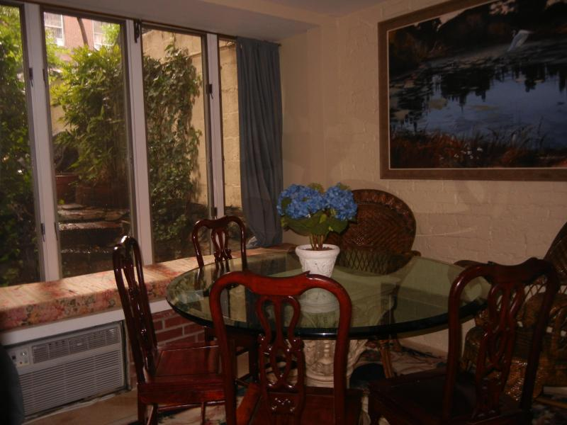 Sunny Dining Room Overlooks Your Private Garden - Secret Garden Apt has NYC Vibe walk to  Empire St - New York City - rentals