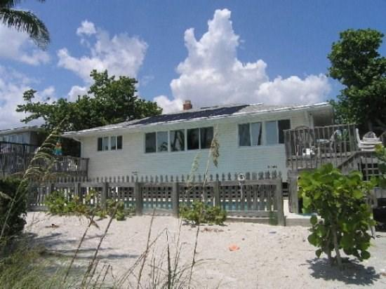 Beachside Exterior - Crane Duplex - Amazing Beachfront Home for Large Families and Groups sleeping up to 15 with Private Heated Pool. Wheelchair accessable. -  Crane Duplex - Fort Myers Beach - rentals