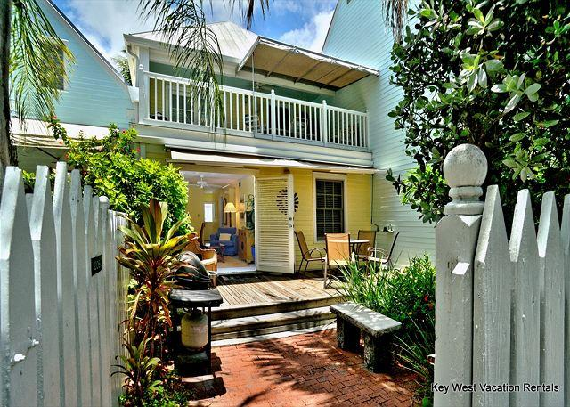 Patio / Deck Area View from Back Gate - Shipyard - Weekly or Monthly - Key West - rentals