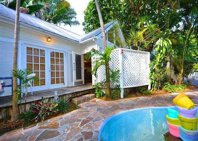 Spacious Bungalow With TIled, Heated, Large Pool Right Outside Your French Doors.  Enjoy Your Private Gated Deck W/Tablke and Chairs and Grill. - Verde Suite - Nightly - Key West - rentals