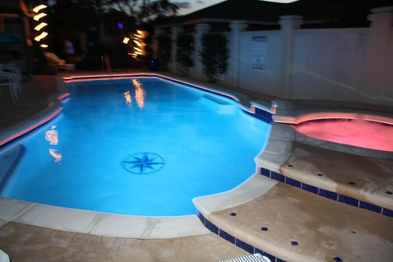Pool and Hot Tub w/fiberoptic night lighting - 2 or 4 bedrm Cottage w/Pool, Walk to Beach - Tybee Island - rentals
