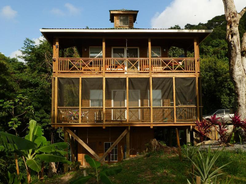 Frontal view with lower  - Treehouse - Roatan, Honduras. Spectacular Views! - West Bay - rentals