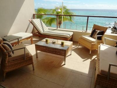 Gather with friends on the patio. - Seascape - Popular 2 Bed Apt @ St Lawrence Beach - Saint Lawrence Gap - rentals