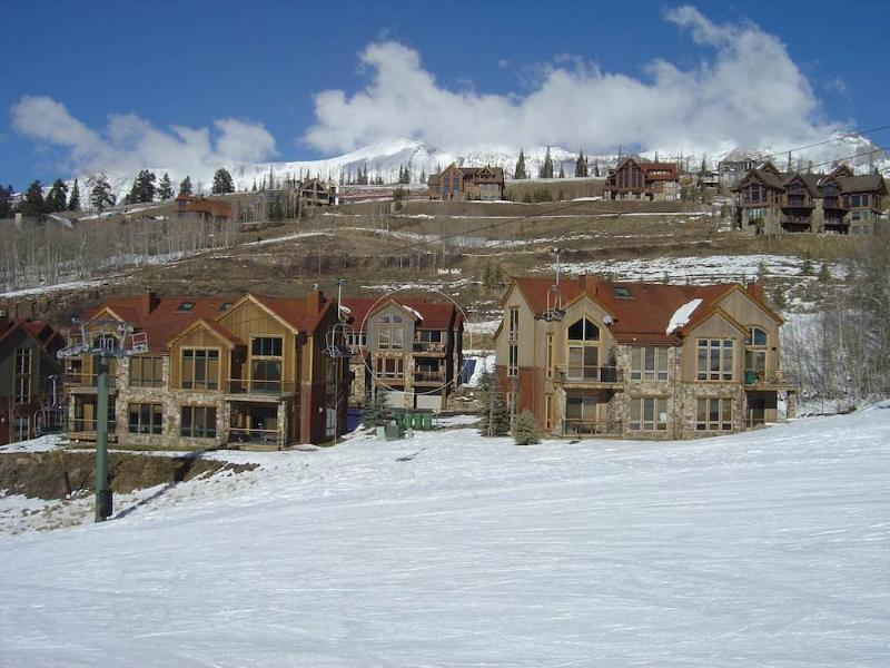 The Terraces complex from the Meadows ski run. - TERRACES 602 - Telluride - rentals