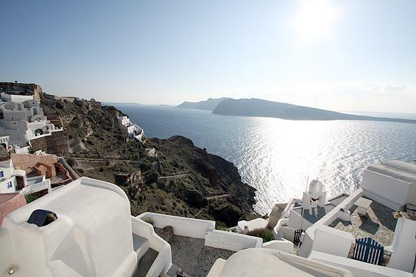 fotinos honeymoon house-view from window - honeymoon house on cliff in oia castlle - Oia - rentals