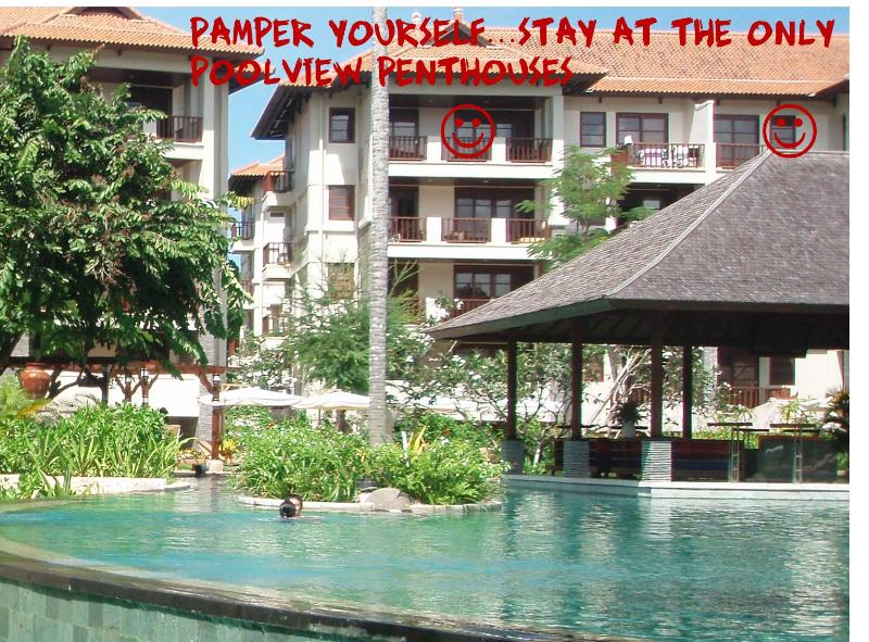 View from the pool - Simply the best :)Poolview Penthouse Ruby Nusa Dua - Nusa Dua - rentals